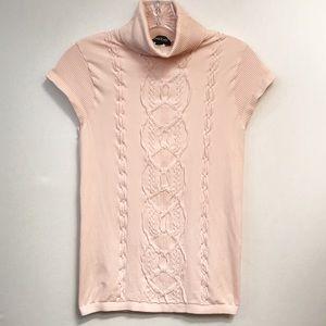 Bebe • Women's Fitted Short Sleeve Turtleneck Top